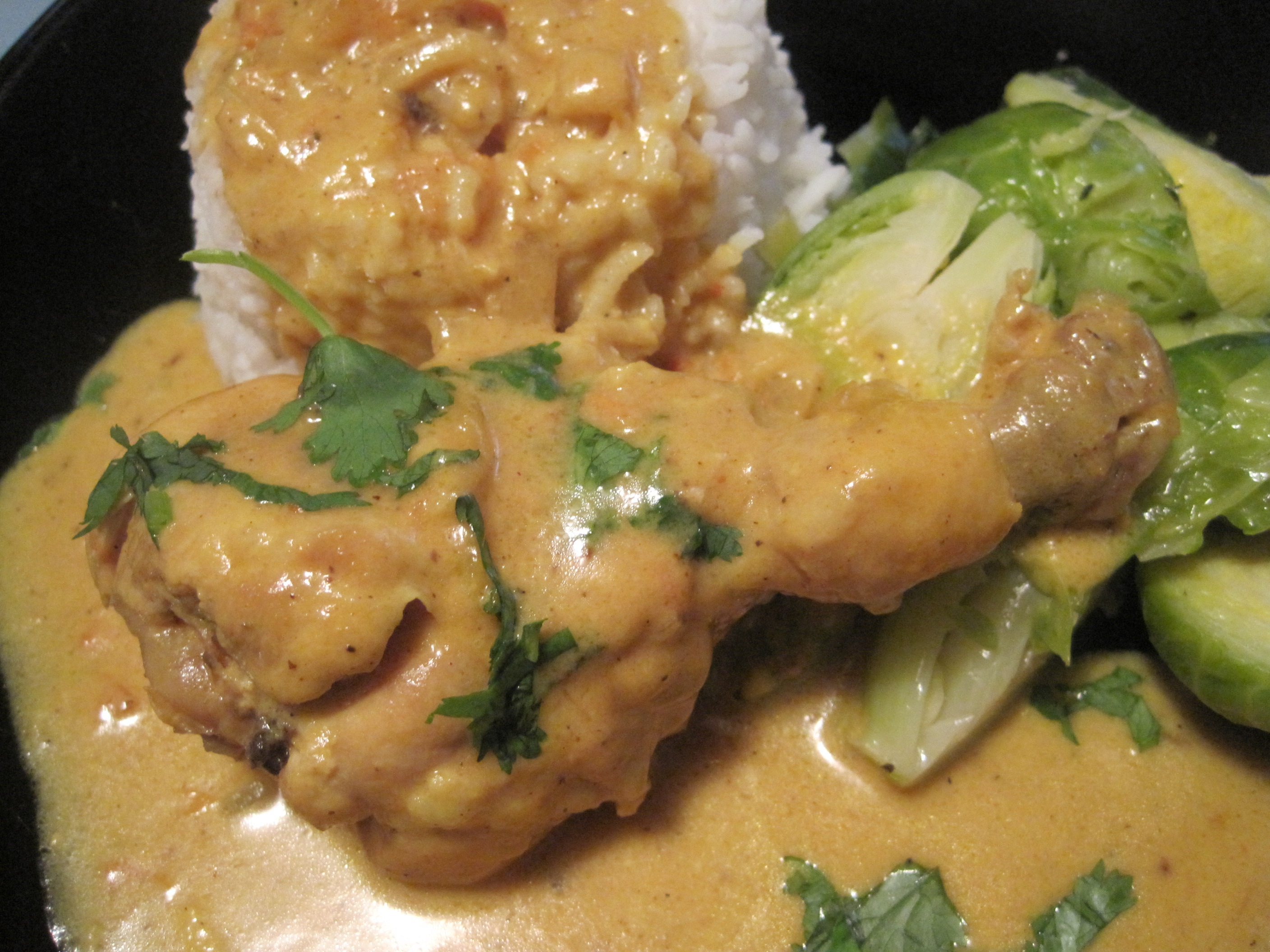 Chicken Stewed in Coconut Milk