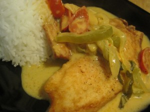 Pan Fried Tilapia with Miso Curry Sauce