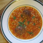 Starry Tomato Soup with Meatballs