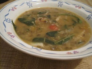 Mung Beans with Pepper Leaves Soup