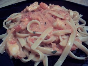 Creamy Marinara with Shrimps