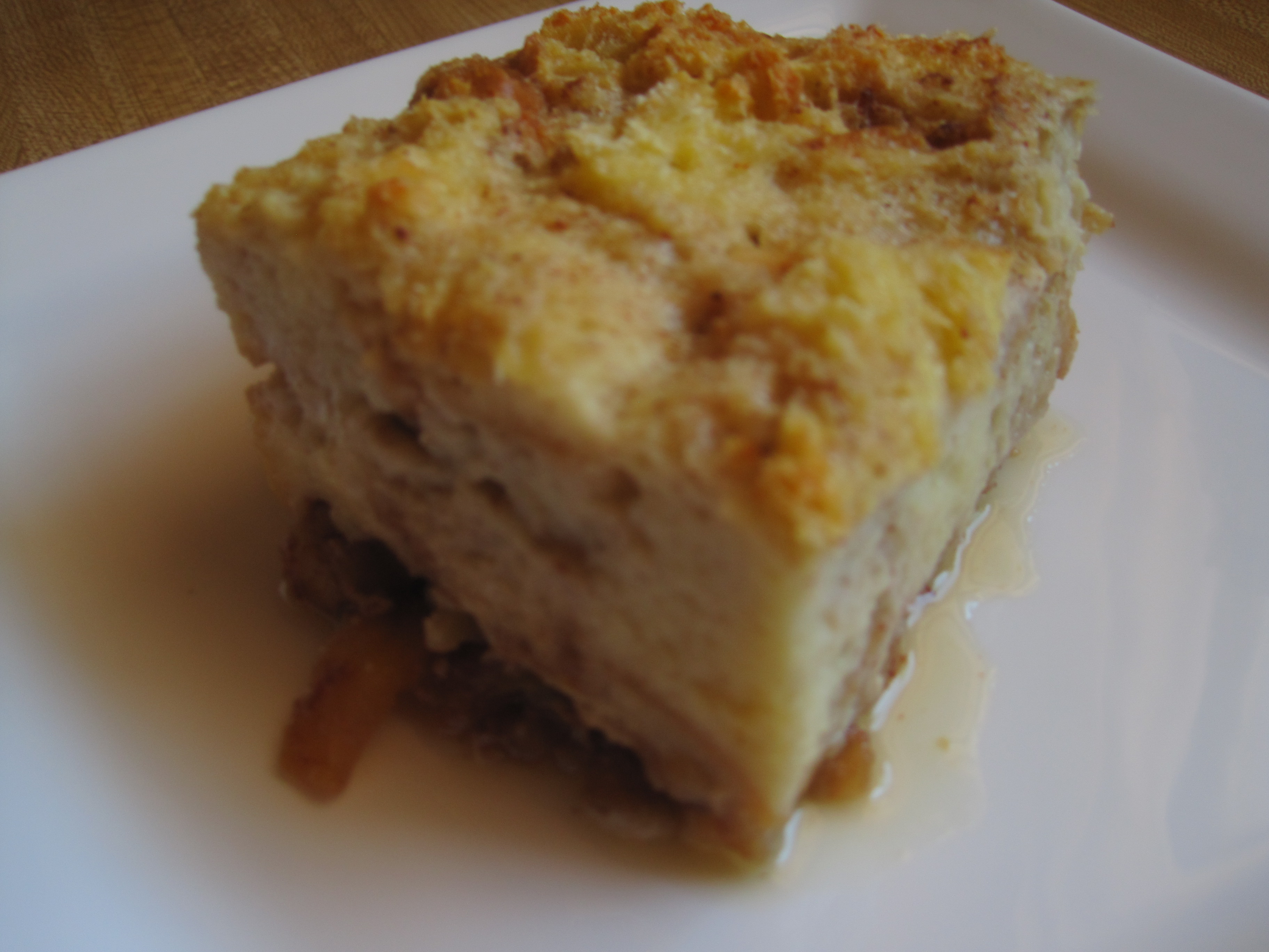 Sticky Bread Pudding with Apples